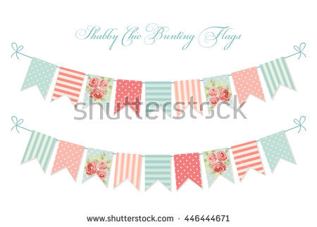 Bunting Background Union Jack Flags Against Stock Vector 102326872.