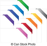 Vector Clipart of Advertising banners, flags, posters templates.