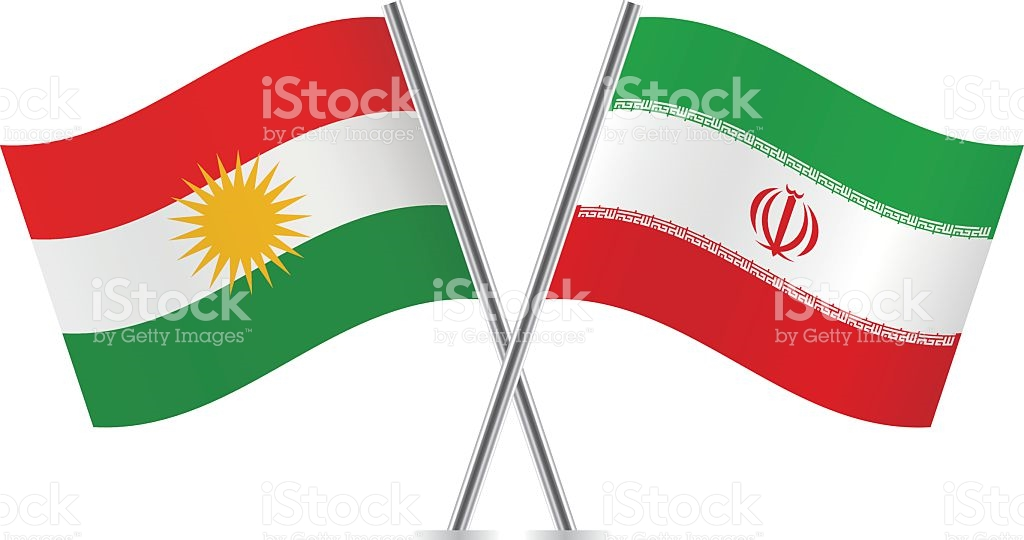 Kurdish And Iranian Flags Vector stock vector art 495231334.