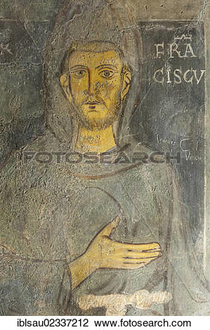 "Stock Photo of ""Catholic Christianity, ornate mural of 1228 Ad."