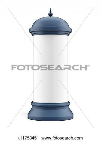Clipart of Blank advertising column k11753451.
