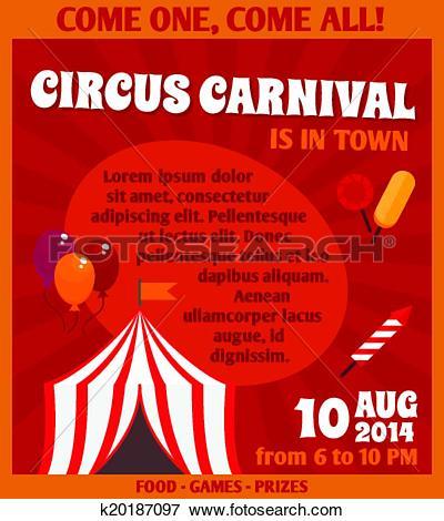 Clip Art of Circus advertising poster k20187097.
