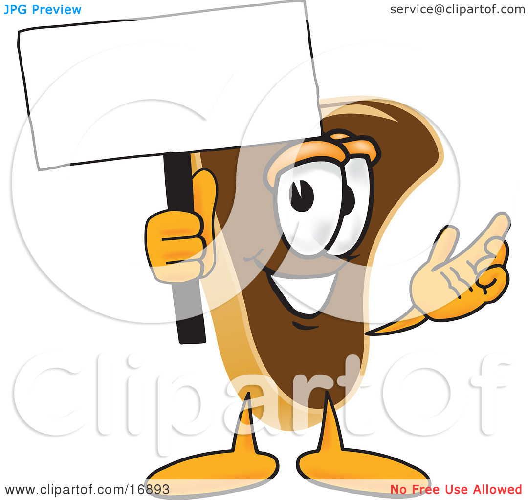 Clipart Picture of a Meat Beef Steak Mascot Cartoon Character.