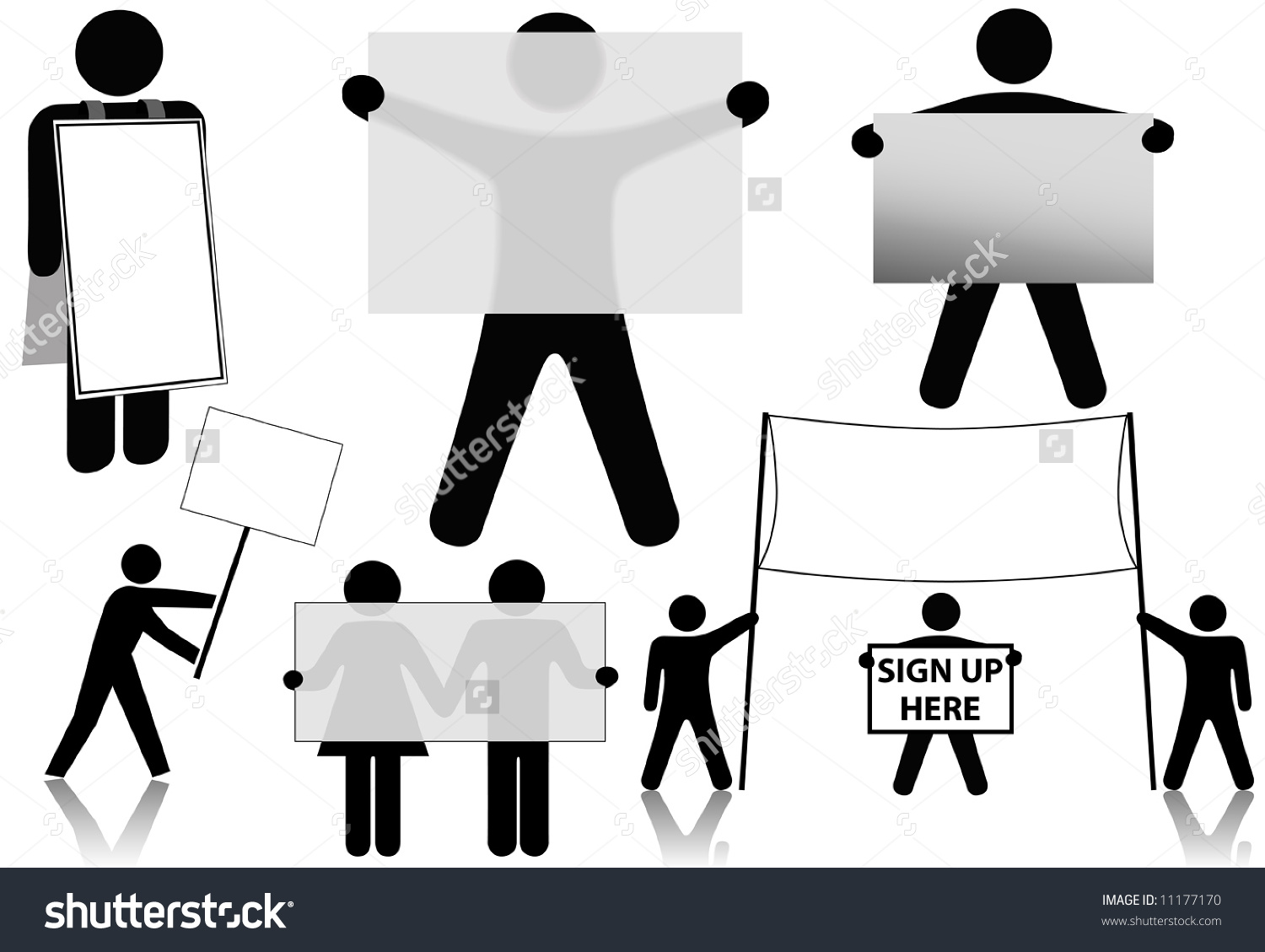International Symbol Business People Hold Set Stock Vector.