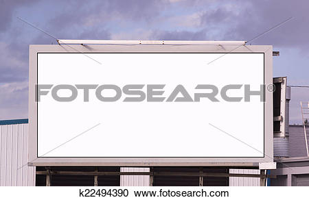 Stock Photography of Your Message Here Blank City Billboard.