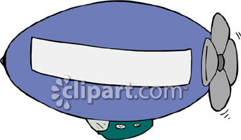 Cartoon Blimp with a Space for Advertising.