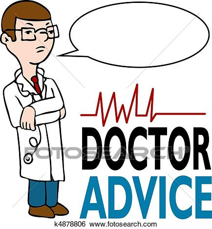 Serious Doctor Giving Advice Clip Art.