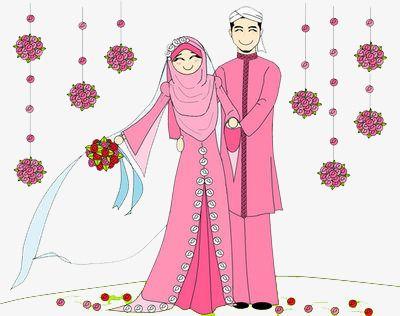 Muslim Wedding, Wedding Clipart, Cartoon, Marry PNG.
