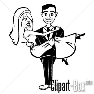 CLIPART JUST MARRIED COUPLE.