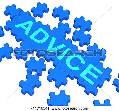 Clipart of Advice Puzzle Showing Guidance And Support k11710541.