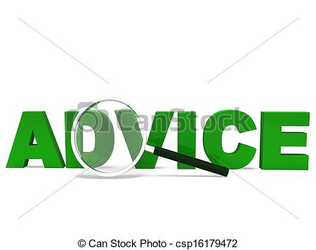 Stock Illustrations of Advice Word Means Advising Advise Recommend.
