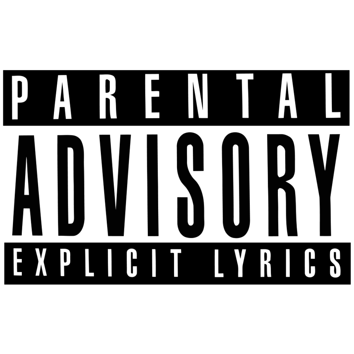 Parental Advisory Explicit Lyrics transparent PNG.