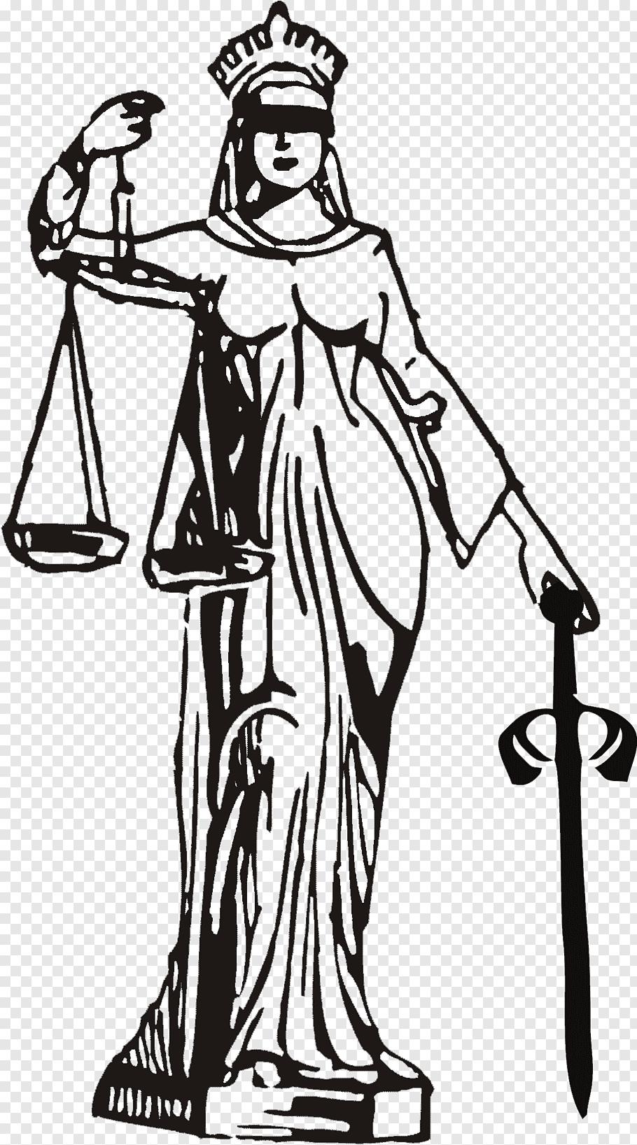 Lady of Justice illustration, Patna High Court Advocate.