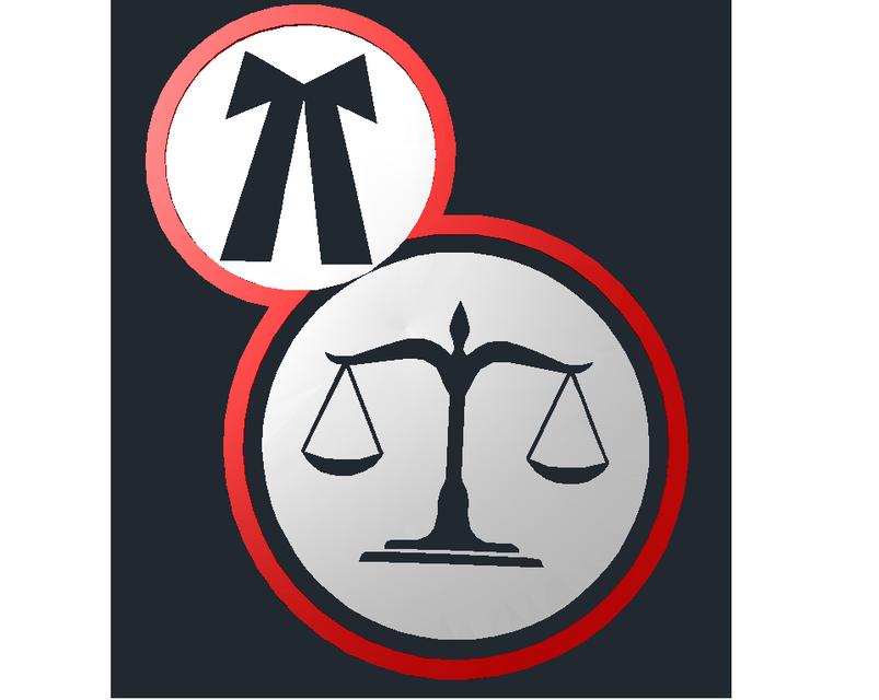 3D Advocate Logo in Curve shape.