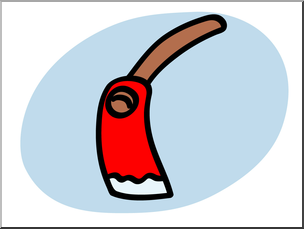Clip Art: Basic Words: Adze Color Unlabeled.