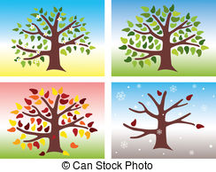 The four seasons clipart #14