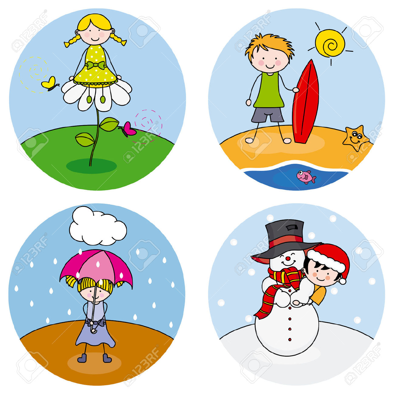 The four seasons clipart #10