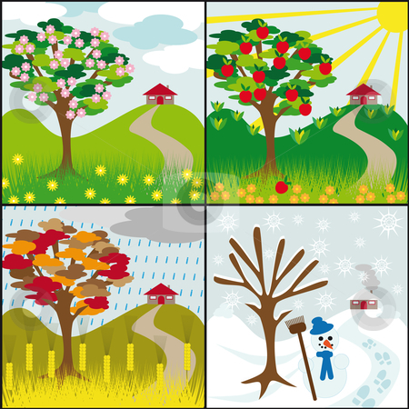 The four seasons clipart #9