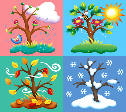 The four seasons clipart #13