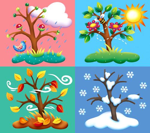 The four seasons clipart #8