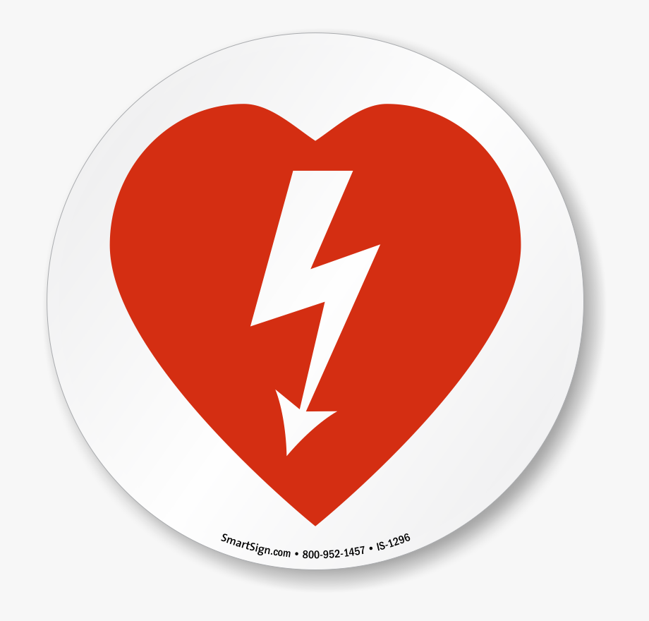 Aed Automated External Defibrillator Symbol Iso Circle.