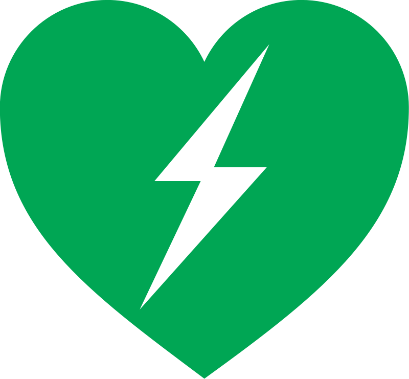 Free Clipart: Defibrillator logo.