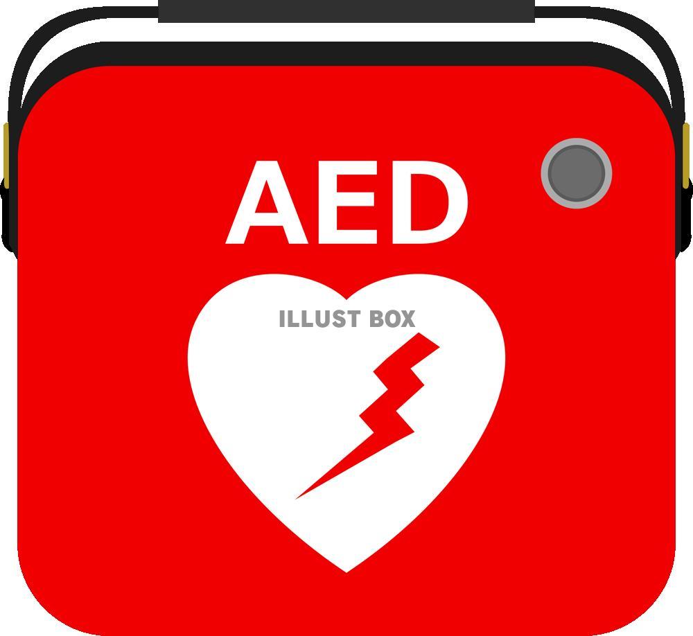 無料イラスト AED(png・CSeps).
