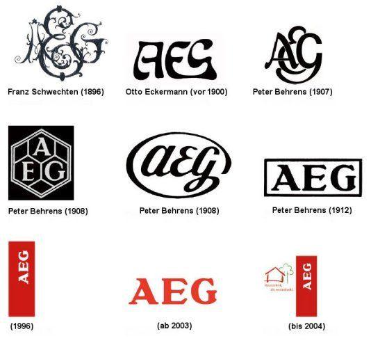 week 5: The change in design of the AEG logo, through 1896.