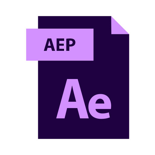 Aep, after, effects, file, logo, logos, type icon.