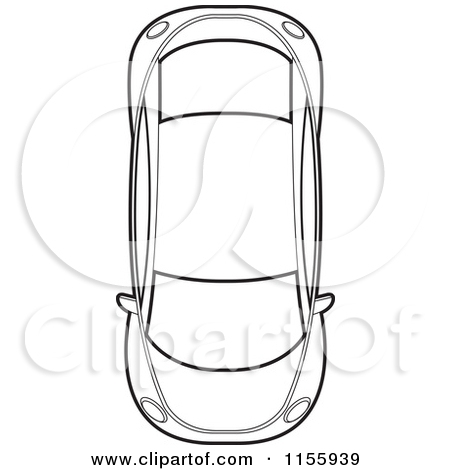 Car Aerial View Clipart.