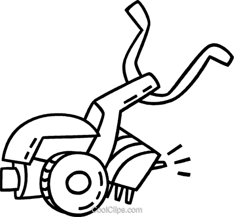aeration machine Royalty Free Vector Clip Art illustration.
