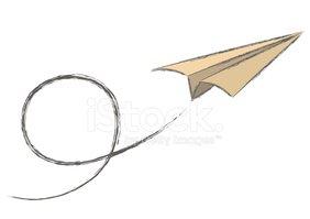 Paper Plane Stock Vector.