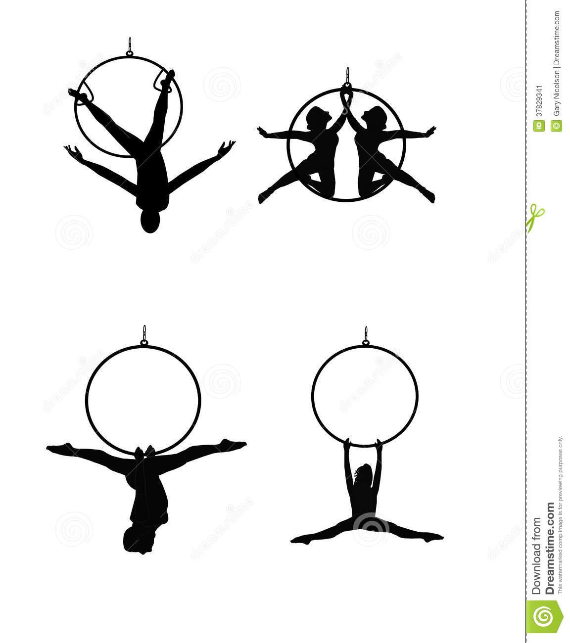Aerial Silks Clipart.