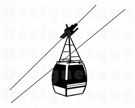 Cable Car #2 Svg, Cable Car Svg, Aerial Tramway SVG, Cable.