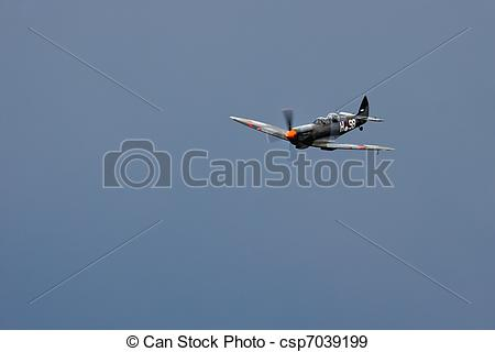 Stock Photographs of Supermarine Spitfire T9C aerial display at.