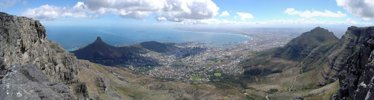Panoramic landscape View of Cape Town, South Africa image.