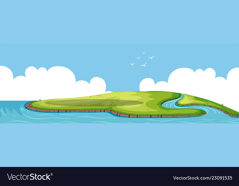 A beautiful nature island.