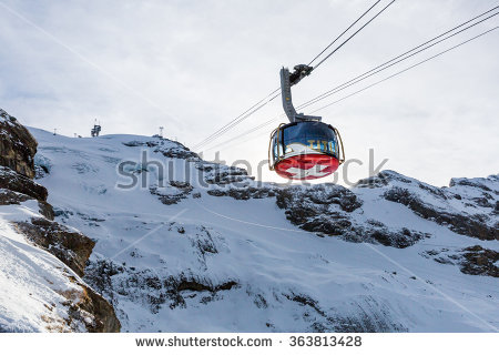 Cable Car Over Mountain Landscape Rila Stock Photo 72926218.
