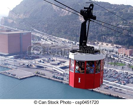 Stock Photography of cable car.