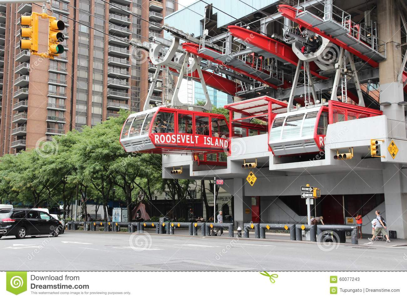 New York Aerial Tramway Editorial Stock Photo.
