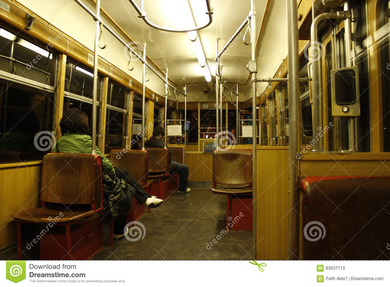 Tramway Passenger Editorial Stock Photo.