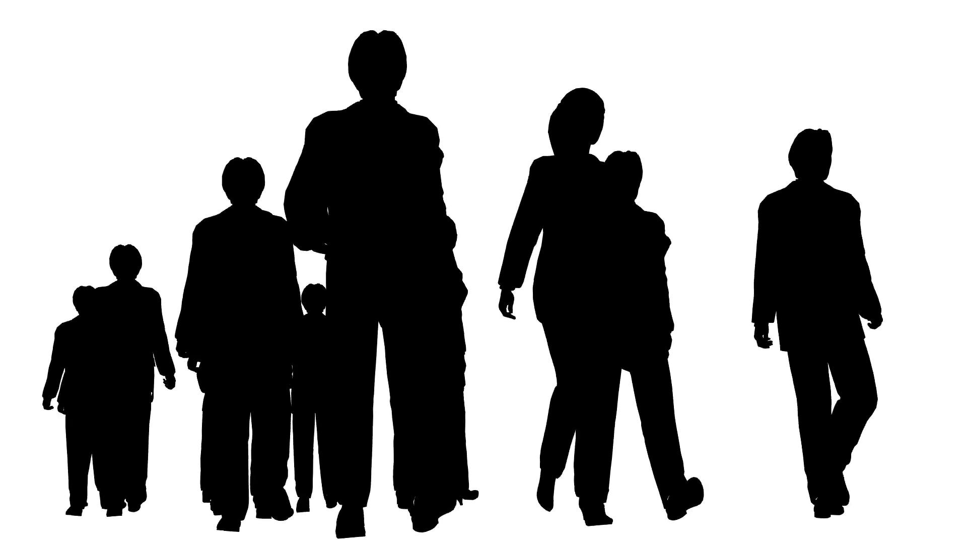 Silhouette Of People Walking at GetDrawings.com.