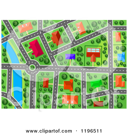 House aerial view clipart.