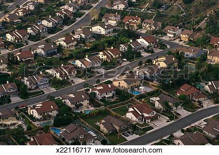 Picture of Aerial of suburban neighborhood x22116717.