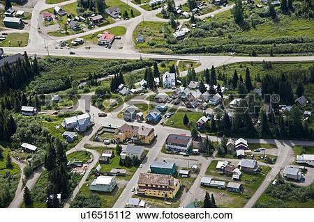 Stock Photo of Aerial photography over the North Cariboo region of.