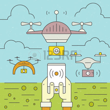 Control Drones Stock Vector Illustration And Royalty Free Control.