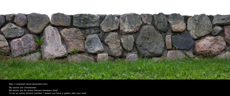 Stone fence by cindysart.