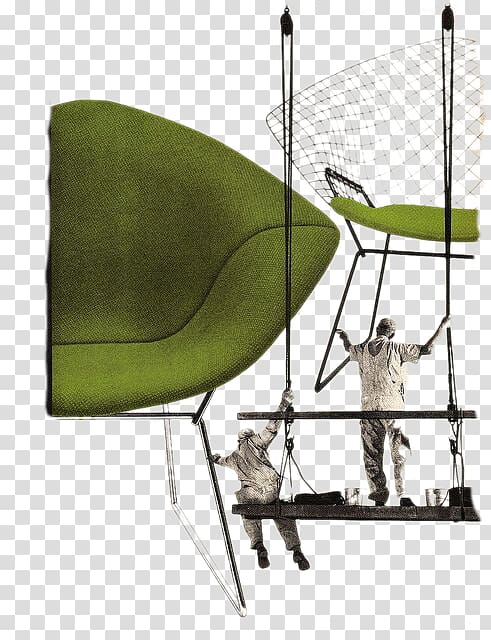 Knoll Diamond chair Charles and Ray Eames, Aerial Work.