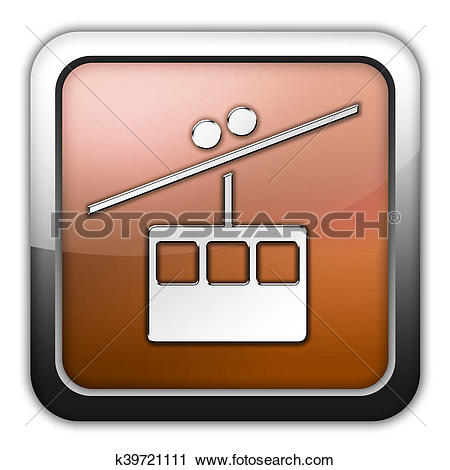 Clipart of Icon, Button, Pictogram Aerial Tramway k39721111.