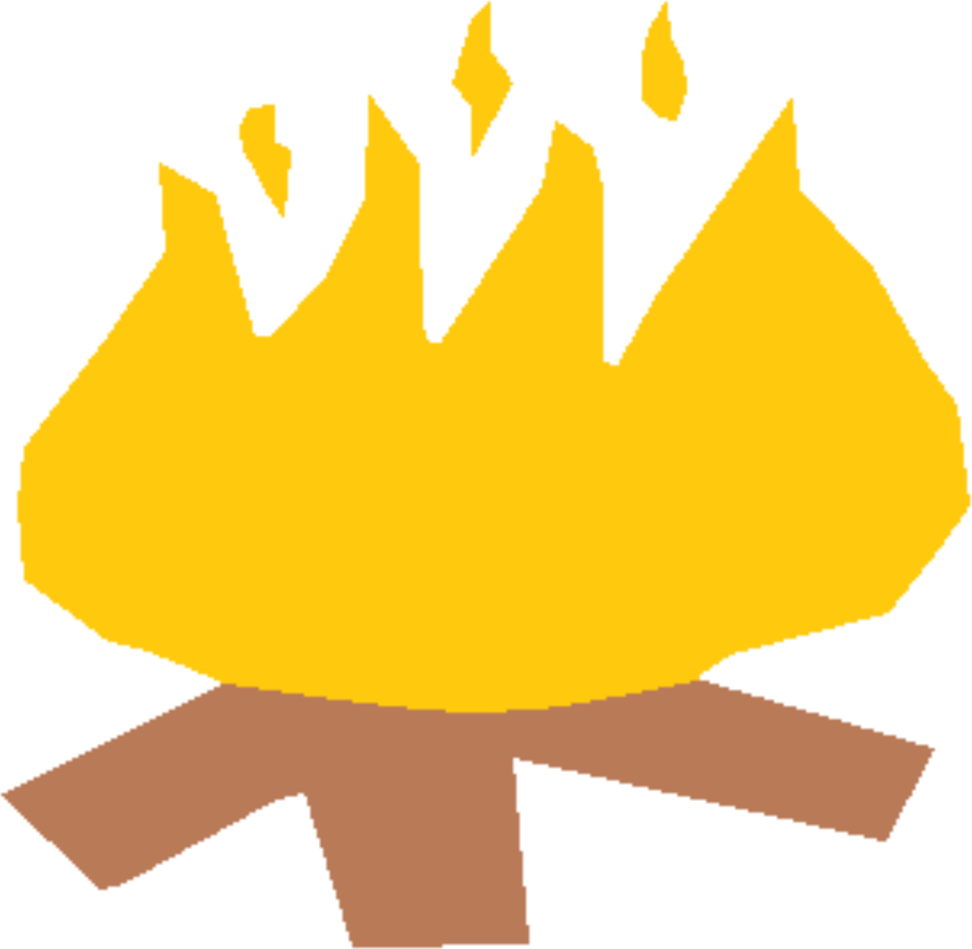 Camp Fire Vector Clipart image.